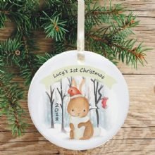 Ceramic Keepsake 1st Christmas Decoration - Rabbit Design